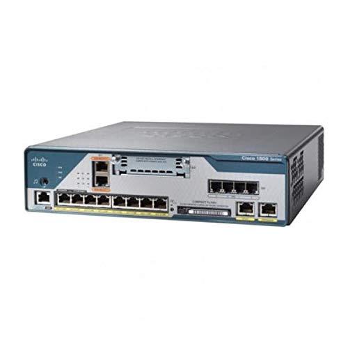 Cisco 1861 - Router (8 Usuario(s), 2,2 dBi, URL, IPsec Des, 3DES, AES 128, 192, 256, MPLS VPN, 80W, 100-240V)