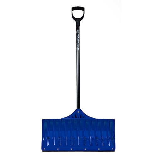 Earthway 90026 Contractor 36 Inch Handle Plastic Snow Pusher Shovel with 26 Inch Wide Blade with Steel Scraper