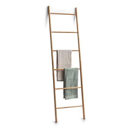 Zeller Ladder-handdoekhouder, bamboe, naturel, ca. 50 x 3,5 x 182,5 cm.