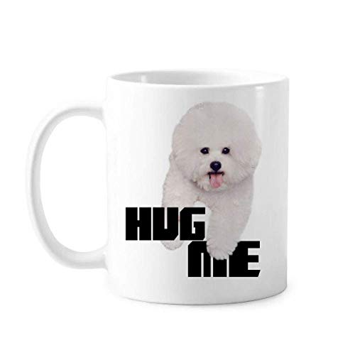 Knuffel Witte Hond Huisdier Care Art Deco Gift Mode Mok Aardewerk Keramische Koffie Porselein Cup Servies