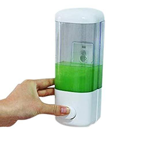 Isuper Montado en la Pared de jabón Manual dispensador de líquido de un Cabezal de Ducha Manual Champú Jabón Líquido Contenedor para Cocina Baño para su casa