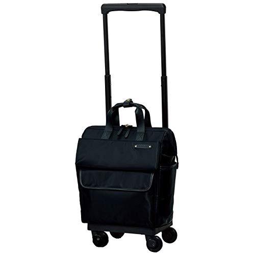 ?[スワニー] キャリーバッグ D-370 カルポ (M21) ブラック(4輪ストッパー付)三愛オリジナル折りたたみサブバッグ付