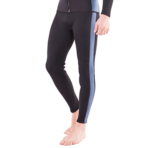 Flexel Wetsuit Pants 2MM Neoprene Men and Women's Surfing Leggings Swim Tights for Diving Snorkeling Kayaking Canoeing Trousers (2mm Pants Navy, Medium)