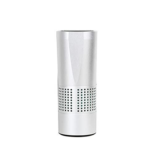 Purificadores de aire para el hogar, purificador de aire de coche, ionizador HEPA filtro limpiador, elimina PM2.5, humo, alérgenos, olor, blanco