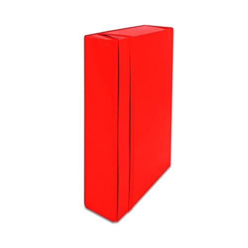 Euro-cart IRIS Cartella Portaprogetti con Elastico Piatto, Dorso 5 cm, Rosso, Formato b.25 x h.35 x dorso 5 cm