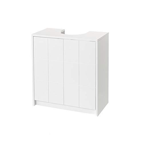H HANSEL HOME Mueble de baño bajo Lavabo para encastrar de Madera MDF Blanco contemporáneo, de 56x30x60 cm