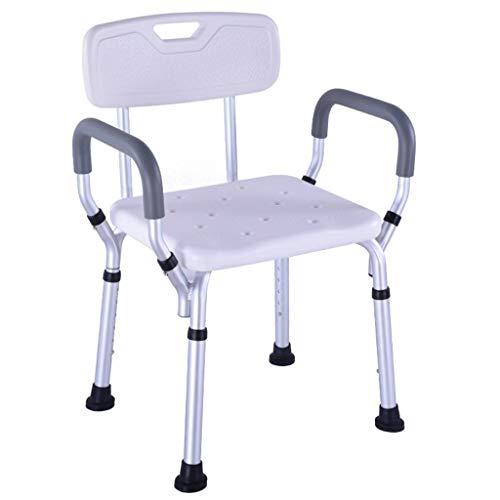 Duschhocker Duschsitze Hocker for senioren Anti-Slip sicher und stabil Bad Hocker Bad Behindertengerechte Dusche Hocker Hochwertige Aluminium-Legierung die maximale Belastung 150 kg Six Höhenverstellb
