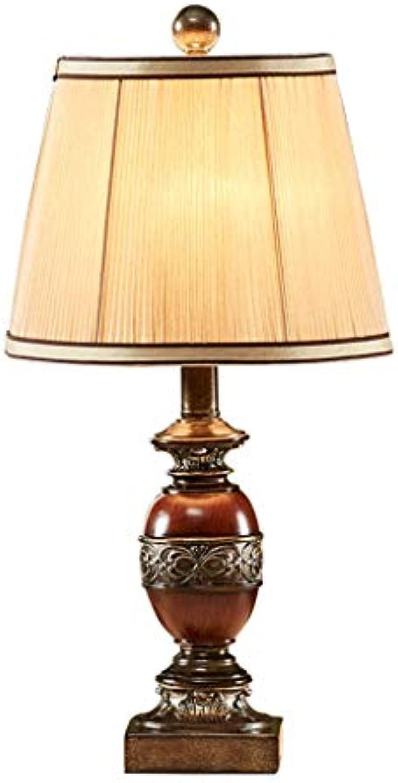 Weiyue Tischlampe- Amerikanische Tischlampe Schlafzimmer Nachttischlampe Kreative Retro Lndliches Land Europischen Wohnzimmer Studie Tischlampe, 51x25 cm (Farbe   A-51x25cm)