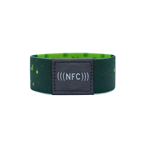 NFC Armband Stoff, flexibel, NTAG216, 924 Byte, grün, Größe M