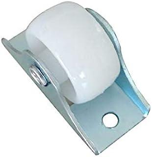 10 stks White Rail Fixed Casters Klein eenrichtingswiel Meubels Plastic Richting Wiel Hardware Accessoires