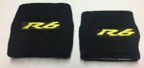 Paar von Gold Schwarz Yamaha YZF R6 Motorrad Vorne & Hinten Wanten Abdeckungen Socken
