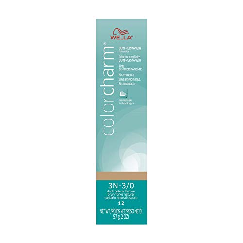 WELLA Color Charm Demi Permanent Hair Color Permanent Hair Color, 3N-3/0 Dark Natural Brown, 2 Ounce
