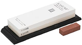 Due Cigni Kasumi japonés Cuchillo Piedras Grano, Blanco/Amarillo, 17,8x 6x 2,4cm