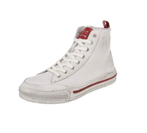 Maca Kitzbühel 2844 - Damen Schuhe Freizeitschuhe - White-red, Größe:37 EU