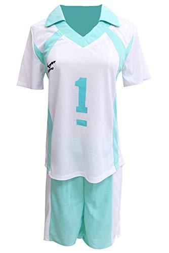 Haikyuu !! Aoba Johsai High School Oikawa Tooru Sportswear Trikot Cosplay Kostüm Volleyball Club Jersey Uniform NO.1 Cosplay Kostüm XXL