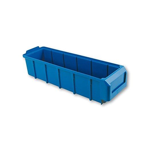 Caja de almacenamiento para herramientas, apilable, separable, 391 x 116 x 90 mm