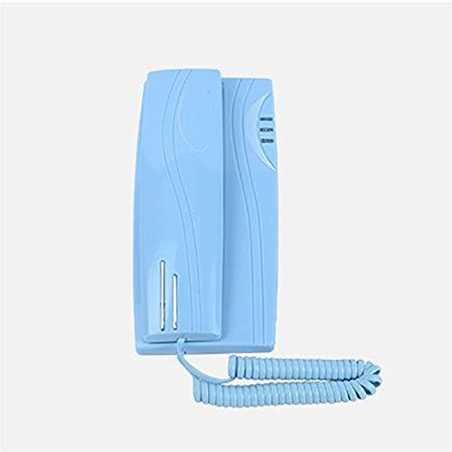 YYCHJU Teléfono con Cable Trimline Teléfono con Cable con indicador de Llamadas, Mudo, función de Pausa, Tabla y Pared Teléfono Montaje en la Pared para Inicio/Hotel/Oficina (Color : B)