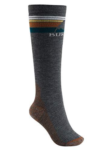 Burton Damen EmblemMidweight Socks Snowboardsocken, True Black, Medium-Large