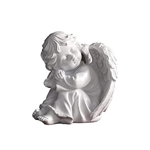 PERFECTHA Modlący się mały anioł figurki religijne i chrześcijańskie dekoracje domu rzeźby lub statuetki jako artystyczne inspirujące prezenty wyposażenie domu salon biblioteczka dekoracja przyjemność