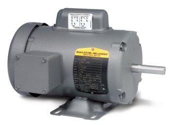 Baldor 3hp Single Phase Motor Wiring Diagram : 3hp 1725rpm 215 frame tefc 115 208 230 volts baldor electric motor