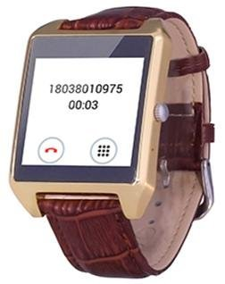 1.6 Inch Smart Watch with Transflective LCD 240240 Message Sync 4.0/2.0 Dual Mode Bluetooth (Gold)