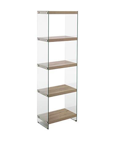 Wink Design Nancy Libreria, 5 Ripiani, Legno, Rovere, 49x29.5x159 cm