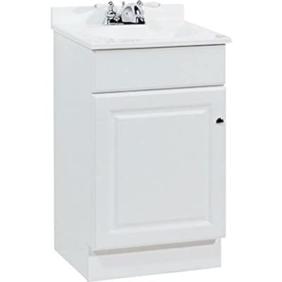 """Rsi Home Products Sales Richmond 19"""" W X 17"""" D X 35-1/4""""H Durable White Finish Vanity"""