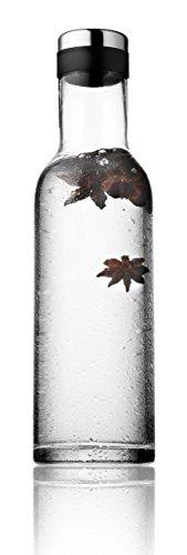 Menu 4680039 Wasserflasche mit Deckel, 1 Liter, schwarz