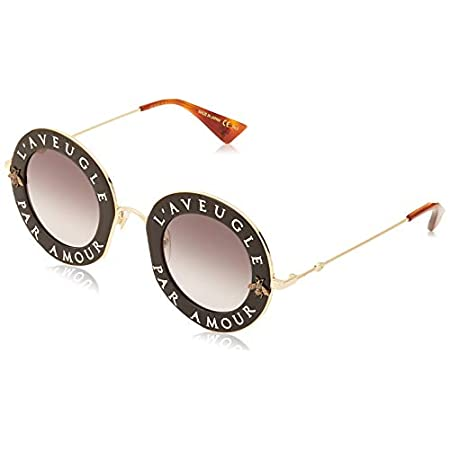 Fashion Shopping Sunglasses Gucci GG 0113 S- 001 BLACK / GREY GOLD