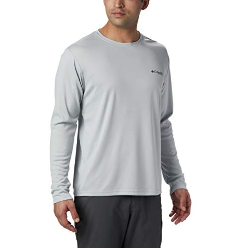 Columbia PFG Zero Rules T-Shirt à Manches Longues pour Homme Protection Anti-UV Tissu Anti-humidité PFG Zero Rules Manches Longues S/M Gris