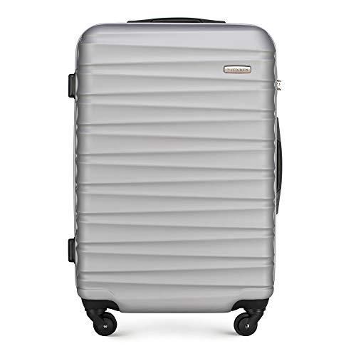 WITTCHEN Koffer – Mittelgroßer   hartschalen, Material: ABS   hochwertiger und Stabiler   Grau   65 L   67x26x45 cm