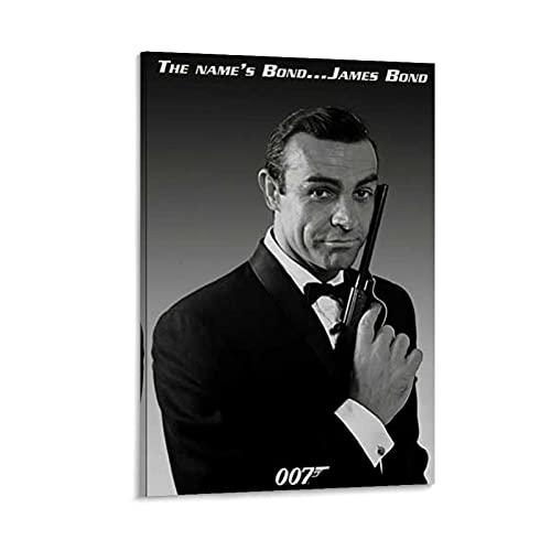 WLMW Sean Connery James Bond 007 - Poster artistico da parete con immagine moderna della famiglia, 60 x 90 cm