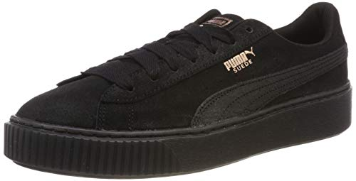 Puma Suede Platform Artica Wn's, Scarpe da Ginnastica Basse Donna, Nero Black Black 02, 40 EU