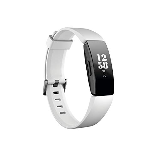 Fitbit Inspire Hr Heart Rate & Fitness Tracker, White, One Size (s & L Bands Included)