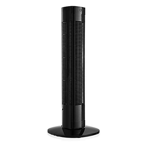Princess 01.350001.01.001 Ventilador de torre, 76.cm, ajuste para el dormitorio, función de temporizador, 50 W, Negro