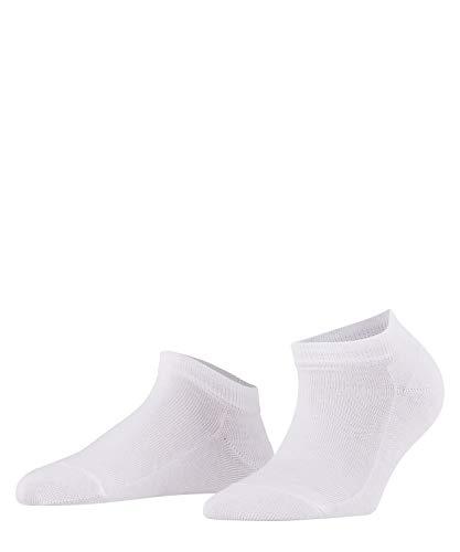 FALKE Women Family Trainer Socks - 94% Cotton, White (White 2009), UK 2.5-5 (Manufacturer size: 35-38), 1 Pair