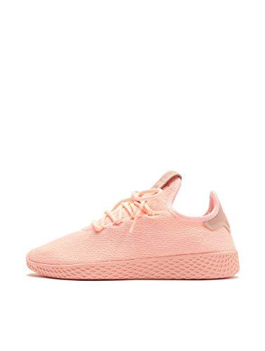 adidas Pharrell Williams Tennis Hu Womens Sneakers Pink (Clear Orange/Cloud White/Core Black, Numeric_6)