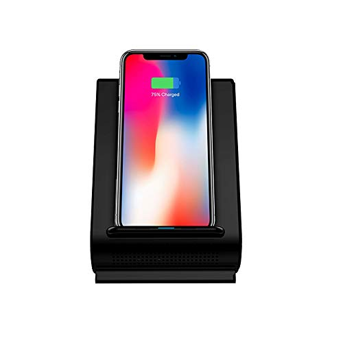 Fast 10W Qi Wireless Charging Sound Hub w/Bluetooth Speaker Dock for iPhone 8, 8 Plus, X, XS, XS MAX, XR, XS, 11, 11PRO, 11PRO MAX & Samsung S20, S20+, S10, S10+