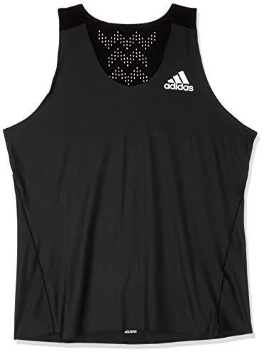 adidas Adizero Prime Singlet Axilas Camiseta, Todo el año, Hombre, Color Negro, tamaño XX-Large
