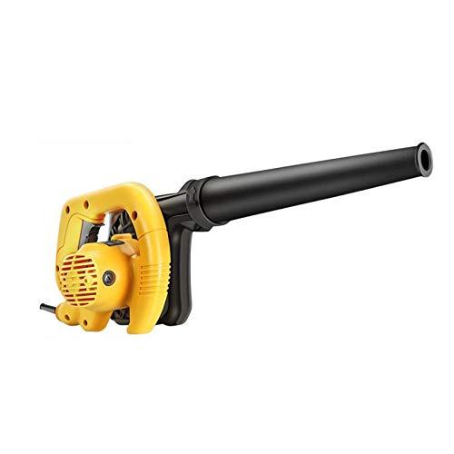 JINHAN Regulación de velocidad sin escalonamiento 750W Blow y de aspiración del ventilador, Cámara en mano accionado soplador de hojas, for el cuidado del césped, Amarillo Soplador de mano