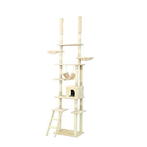 BESTSOON Cat Tree Tower Large Cat Climbing Tree Cat Litter Tree Cat Scratch Board Cat Springboard Cat Jumping Platform Cat Toy Kitten Furniture Activity Centre (Color : B, Size : 60 x 40 x 250cm)
