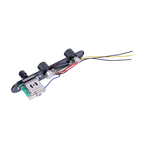 XJF Negro Tele Prewired Control Plate 3 Way Switch para Fender Telecaster Guitarras