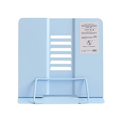 Walory Estantería, Soporte de libro de metal Soporte de documento de estantería de seis ángulos ajustable Soporte de documento Gran herramienta de lectura para documento Libro de recetas Tableta P