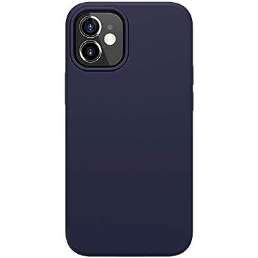 """Nillkin Case for Apple iPhone 12 Mini (5.4"""" Inch) Flex Pure Case Liquid Silicon Finish Anti Finger Print with Inner Microfibre Blue Color"""