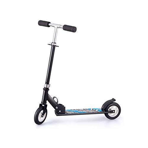 Great Deal! FGH QPLKKMOI 2-Wheel Kick Scooter for Kids, Girls and Boys, Foldable Design Adjustable H...