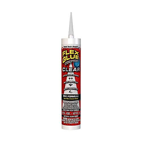 Flex Seal - FLEXSL_GFSCLRR09 Glue Clear 9 oz PRO Formula - Super Strong Transparent Waterproof Adhesive