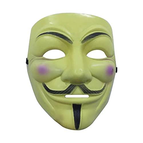 NRRN Máscara de Halloween V para hackers, Vendetta cara completa de miedo Cosplay para Halloween disfraz fiesta