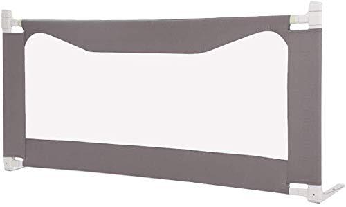 Barrière de lit de sécurité pour bébé Baby Safety Portable et Steady Bed Guard, Garde de Protection Pliable pour Enfant en Bas âge, 80 cm de Hauteur (Couleur: Gris, Taille: 1,5 m)