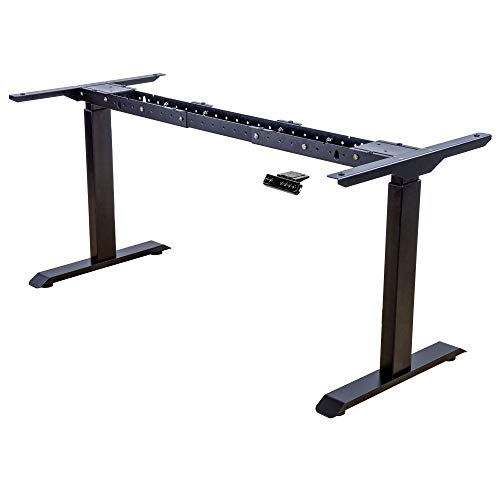 Albatros Schreibtisch-Gestell Lift, schwarz, 2X Motoren, elektrisch höhenverstellbar mit Memory-Funktion