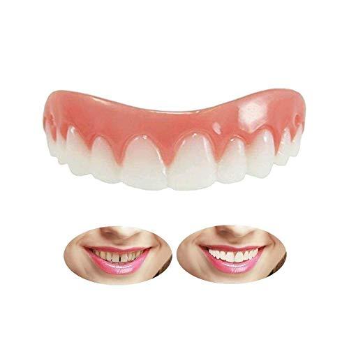 künstliche Zähne Oberkiefer Sofortiges Lächeln Zähne Provisorischer Zahnersatz Top Perfekte Smile Veneers, Quick Dental Prothese Provisorischer Zahnprothese Veneer für ein perfektes Lächeln